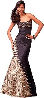 89870d9cec Clarisse Strapless Animal Print Mermaid Prom Gown 1563