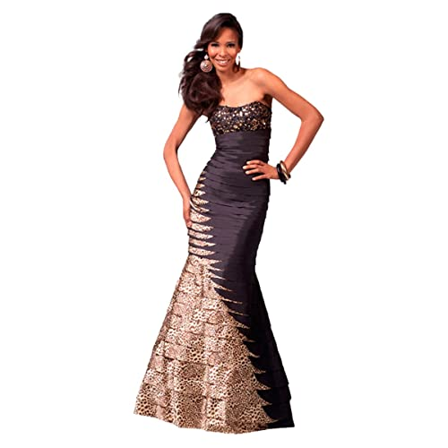 Clarisse Strapless Animal Print Mermaid Prom Gown 1563 a9dcf05a5