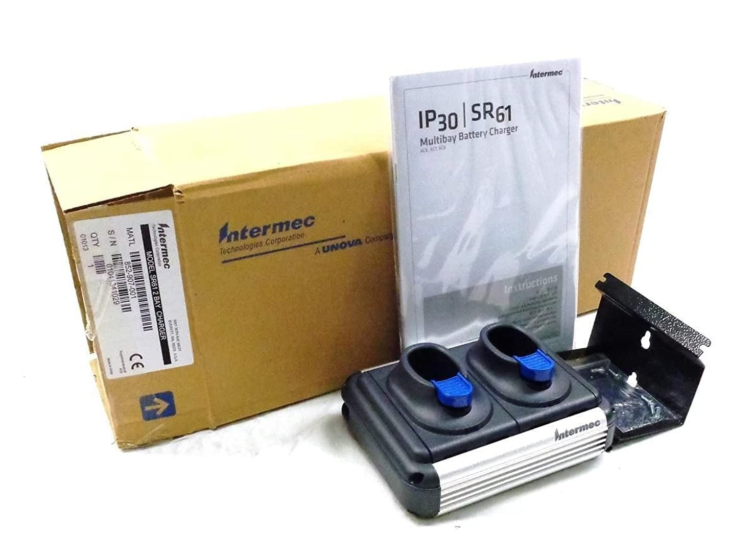 ABM? Intermec 852-907-001 2Bay Charger For SR61 OR IP30 Charger SR61 (2Bay Requires 851-082-103-Power Supply And Power Cord) For The Sr61 (BATTERY ONLY NO CHARGER)