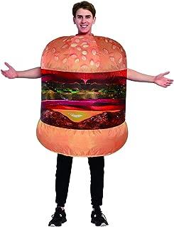Inflatable Halloween Cheeseburger Costume Hamburger Adult Costume Yellow