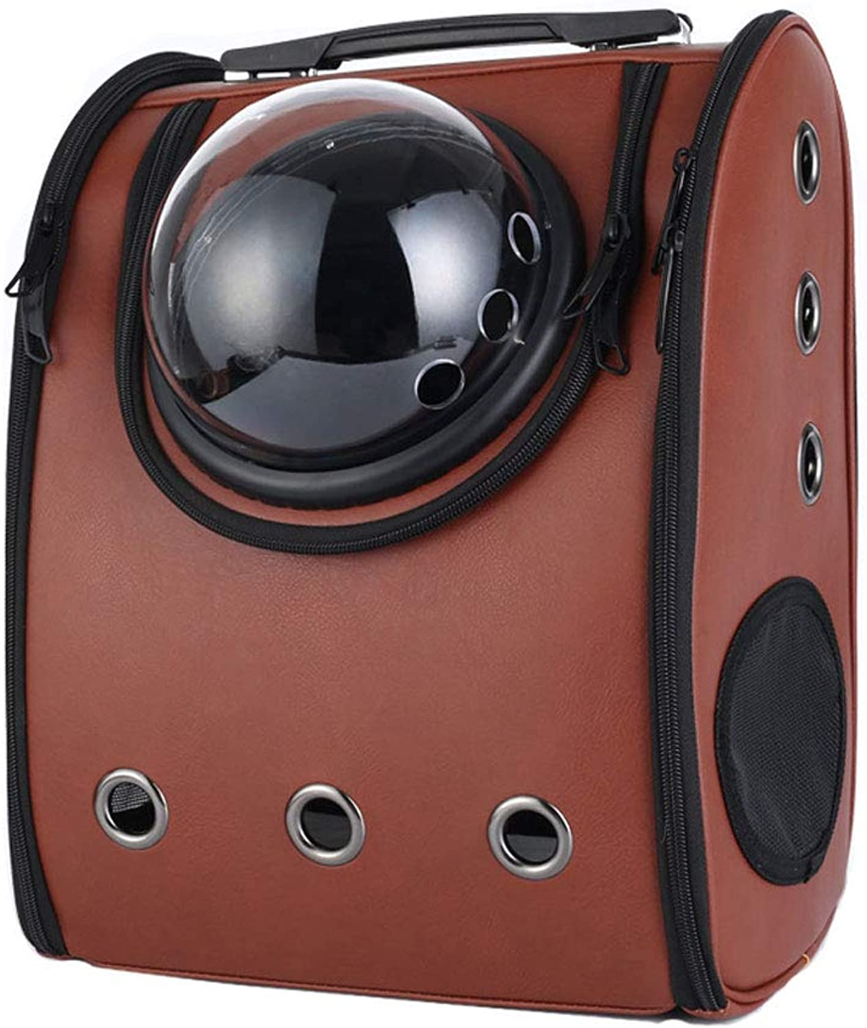 GWM Pet Backpacks Pet Portable Carrier Space Capsule Backpack, Pet Bubble Traveler Knapsack Multiple Air Vents Waterproof Lightweight Handbag for Cats Small Dogs Petite AnimalsPink,30L