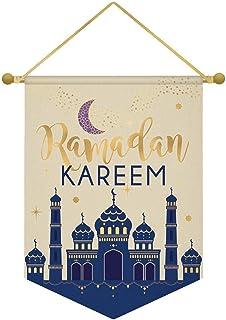 amscan Ramadan Kareem Hanging Canvas Sign,1 ct, Multicolor