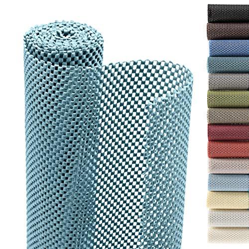 Smart Design Shelf Liner Premium Grip - (18 Inch x 8 Feet) - Drawer Cabinet Non Adhesive - Home & Kitchen [Teal Blue]