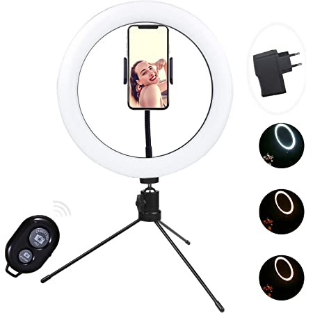 Cprosp 10 Zoll 25 4cm Selfie Led Ringlicht Mit Kamera