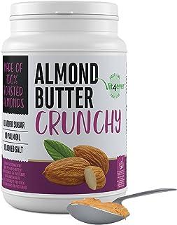 Beurre d'amande croquant - 1kg Beurre d'amande naturel sans additifs - Source de protéines - Beurre d'amande sans sucre aj...