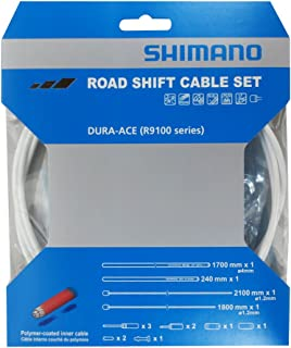 SHIMANO DURA-ACE R9100 SP41 POLYMER-COATED DERAILLEUR WHITE CABLE SET
