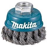 Makita D-24131-Spazzola in Filo Di M14 Insercion Da 75 Mm Con Scanalature, In Acciaio Intr...