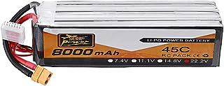 KINGDUO 22.2V 8000Mah 45C 6S Lipo Batterie Xt90 Prise pour FPV Racing Drone