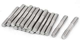 uxcell M6x40mm 304 Stainless Steel Double End Threaded Stud Screw Bolt 20pcs
