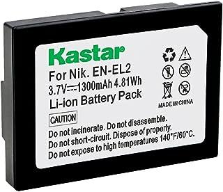 Kastar Battery (1-Pack) for Nikon EN-EL2 work with Nikon Coolpix 2500, Nikon Coolpix 3500, Nikon Coolpix SQ500 Digital Cameras
