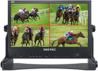 SEETEC ATEM156 15.6インチ 監視モニター 監督用 4XHDMI入力出力 250cd/m² ビデオ撮影モニター1920×1080 IPS ATEMミニビデオスイッチャーミキサープロスタジオテレビ制作用