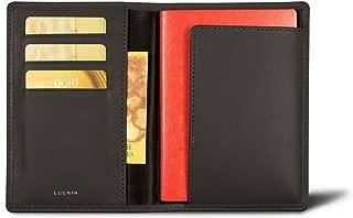 Lucrin - Australian Passport and loyalty cards holder - Dark Brown - Genuine Leather
