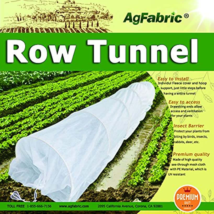 20FT Long Agfabric Grow Tunnel,Mini Greenhouse,Hoophouse,Tunnel Kits, 0.9oz Row Cover and Tunnel Hoops,Plant Cover &Frost Blanket for Season Extension and Seed Germination