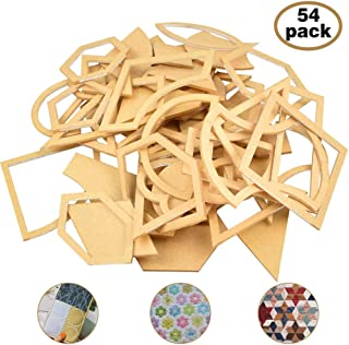 Zilong 54 Pack Acrylic Quilting Templates Mixed Hand Quilting Stencils Clear Quilting Pattern Rulers Templates DIY Tool for Leather Quilting Sewing Patchwork Craft