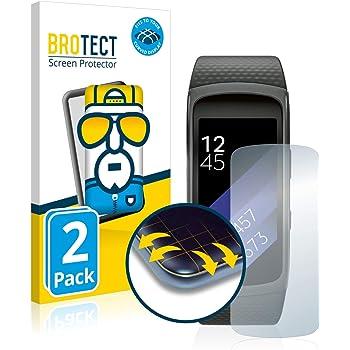 brotect Pellicola Copertura Completa Compatibile con Samsung Gear Fit 2 (2 Pezzi) Full-Cover 3D Curvo