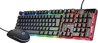 Trust Gaming GXT 838 Azor Tastiera e Mouse Gaming, Nero