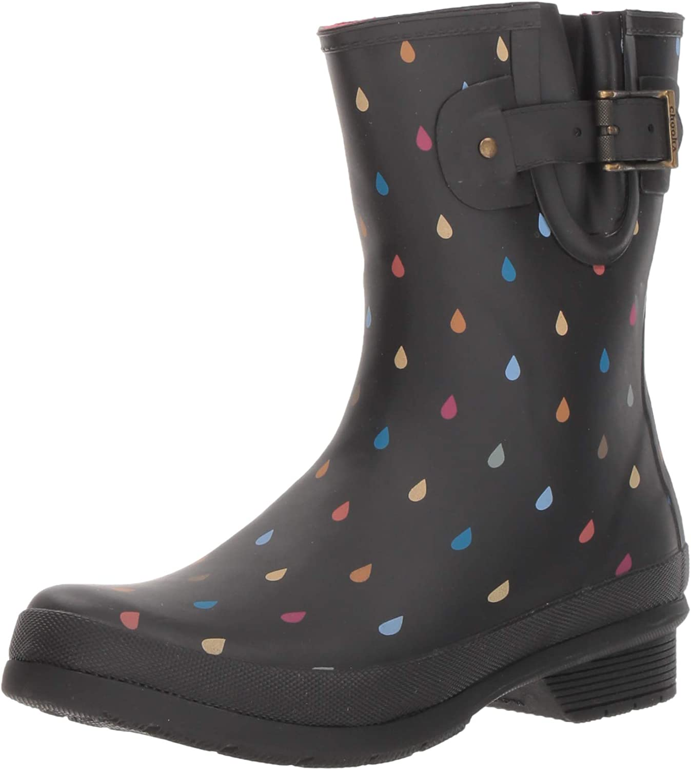 Chooka Women's Waterproof Mid-Height Printed Rain Boot with Memory Foam Calf