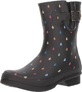 Women's Printed Mid-Height Waterproof Rain Boot with Memory Foam