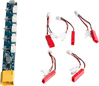 1S Lipo Battery Charge Board with Micro JST 1.25 and JST-PH 2.0 for Blade Inductrix Tiny Whoop mCX mCPX (XT60/USB Input)