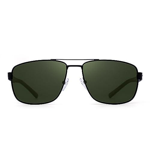 2a95093661da4 Jim Halo Gafas de Sol Aviador Polarizadas Conducir Marco de Metal Lentes  Cuadrados Anteojos Hombre Mujer