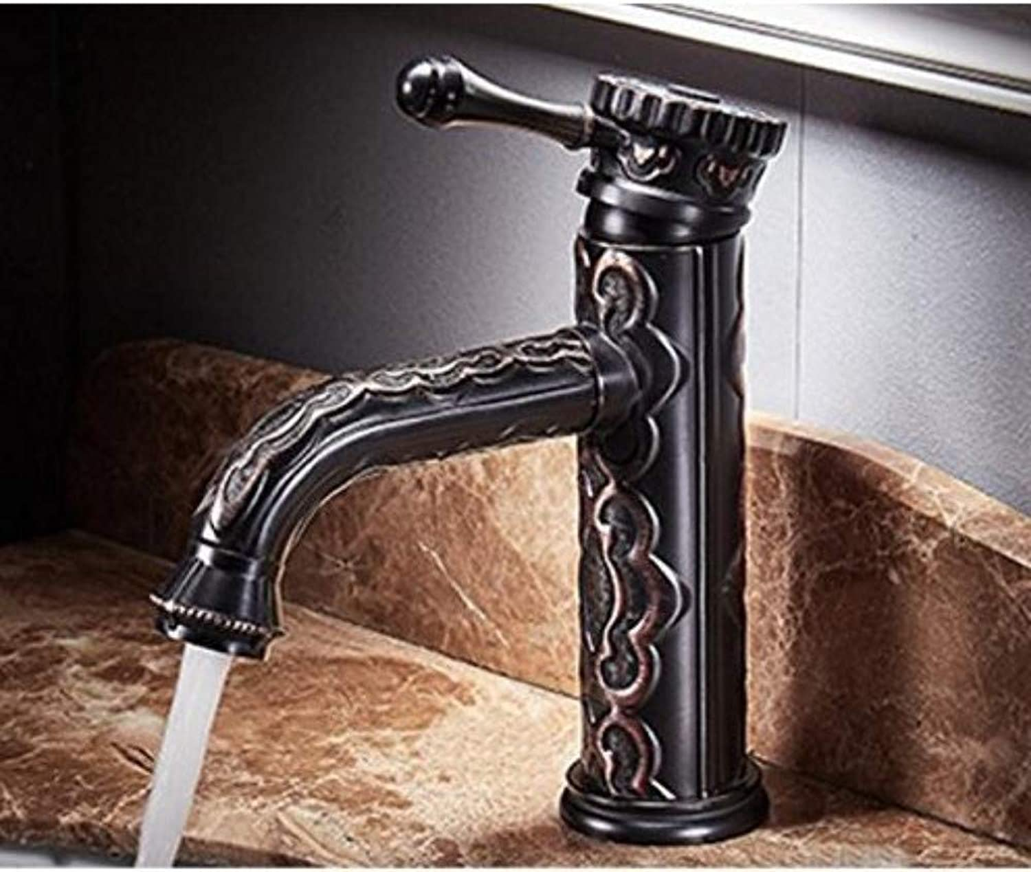 Faucetretro Hot and Cold Can redate 360 Degrees Black Antique Faucet Tap