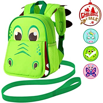Airplane-Pink JiePai Toddler Kids Backpack with Safety Harness Leash,Waterproof 3D Cartoon Cute Travel//Nursery//Kindergarten//Preschool Backpack for Kids boys girls,Age 1-6