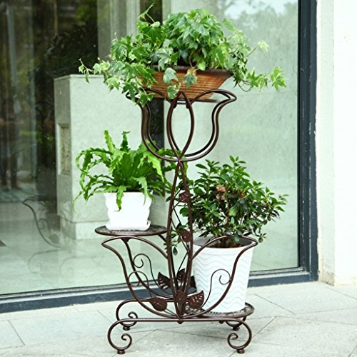 William 337 Fleur Stand Fer Forgé Fleur Stand Multicouche Intérieure Balcon Salon Planter Fleur Forme (Couleur : C)