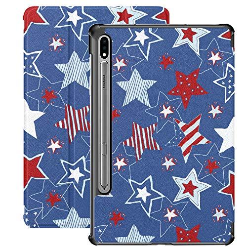 Funda para Samsung Galaxy Tab S7 / s7 Plus 4 de Julio Estrellas y Rayas Soporte Carcasa Trasera Compatible con Samsung Galaxy Tab E Funda para Galaxy Tab S7 11 Pulgadas S7 Plus 12,4 Pulgadas