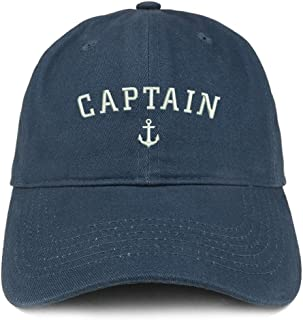 Captain Anchor Embroidered Soft Crown 100% Brushed Cotton Cap