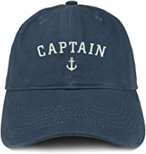 Trendy Apparel Shop Captain Anchor Embroidered Soft Crown 100% Brushed Cotton Cap