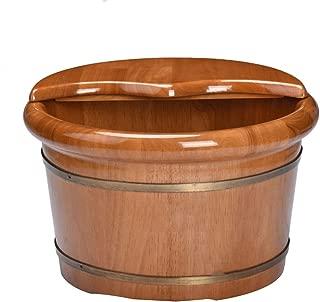 ZCXCC Bañera para Pies De Madera Masaje para El Cuidado De La Salud En El Hogar Baño para El Hogar Barril De Roble Cuenca para Pies Naturaleza Hidroterapia Masaje De Madera Cuenco,B