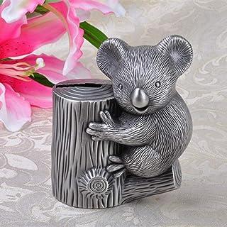 LSGNB Lazy Bear Piggy Bank Koala Bear Change Can Creative Metal Crafts Gifts (Size : 10X6.3X12.4CM )