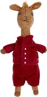 "Llama Red Pajama Beanbag Stuffed Animal Plush Toy, 10"""