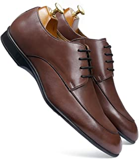 one8 Select by Virat Kohli Men's Brown Leather Derby Shoes