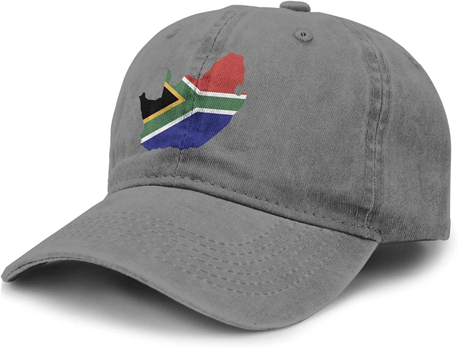 PARKNOTES South Africa Flag Country African Map Illustration Cheap and Durable Adult Cowboy Hat Unisex