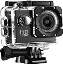 DRAGONHOO Sports Camera Waterproof 30M Camera HD 1080P Sport Action Camera DVR Cam DV Video Camcorder Screen: HD 2