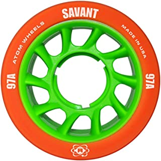Atom Skates Savant 97A Orange/Green Skate Wheels (QWA6000.OR)