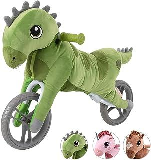 My Buddy Wheels (Dinosaur) ジュニア幼児用バイク | ペダルなし自転車|バランスバイク |キックバイク| 対象年齢18ヶ月 1歳 2歳 3歳 4歳 ぬいぐるみ 恐竜