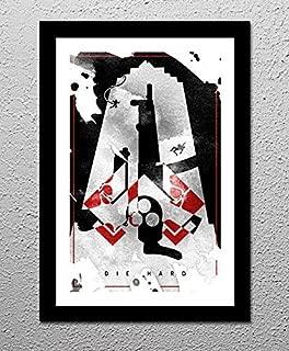 Die Hard - Nakatomi Plaza - John McClane - Original Minimalist Retro Art Poster Print