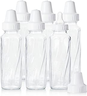Evenflo Feeding Classic Glass Twist Bottles, 8 Ounce (Pack of 6)