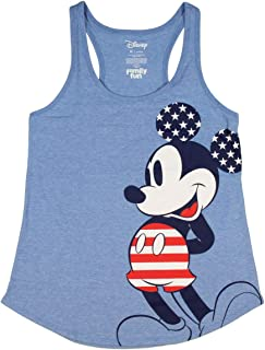 Disney Mickey Mouse Junior's All-American Mickey Racerback Tank Top Tee Shirt
