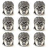 Healifty - Lote de 20 Cuentas de aleación con Cabeza de Buda pequeñas, de Metal, Espiritual para la fabricación de Joyas artesanales (Plata Antigua)