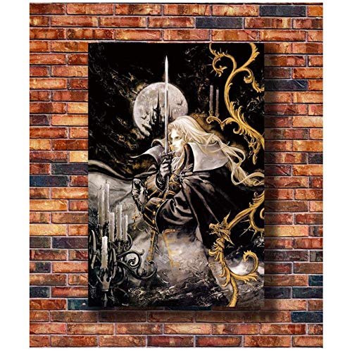 wzgsffs RGC Huge - Castlevania Symphony of The Night Alucard Art Poster Canvas Painting Home Decor Carteles e Impresiones   -50x75cm Sin Marco