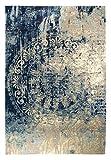 Luxor Living Vintageteppich Barock, Designerteppich, hochwertig, robust, pflegeleicht, Farbe:Beige-Blau, Größe:120 x 170 cm