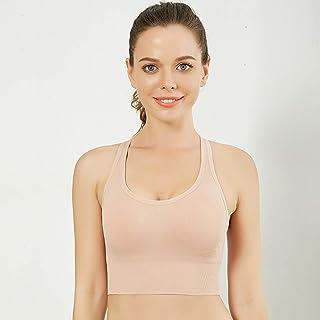Sports Bra Cross Beautiful Back Shockproof Non-Wire Sports Underwear Women's Adjustable Four-Breasted Running Sports Bra(X...