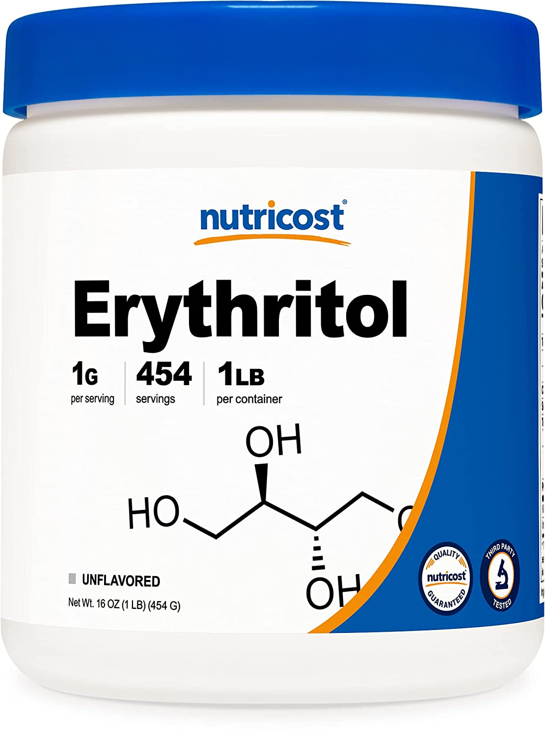Large special price Many popular brands Nutricost Erythritol 1 LB 454 Sweetener - Low-Calorie Grams