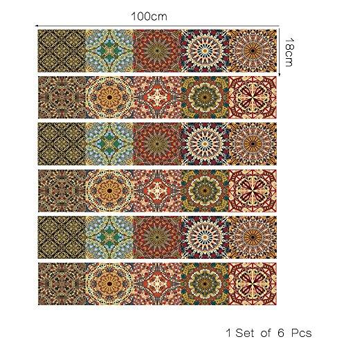 Arabischer Stil DIY abnehmbare Treppe Aufkleber Home Decor Keramikfliesen Muster, Treppen Aufkleber arabischen Stil