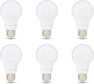 AmazonBasics 60W Equivalent, Soft White, Dimmable, CEC Compliant, A19 LED Light Bulb | 6-Pack