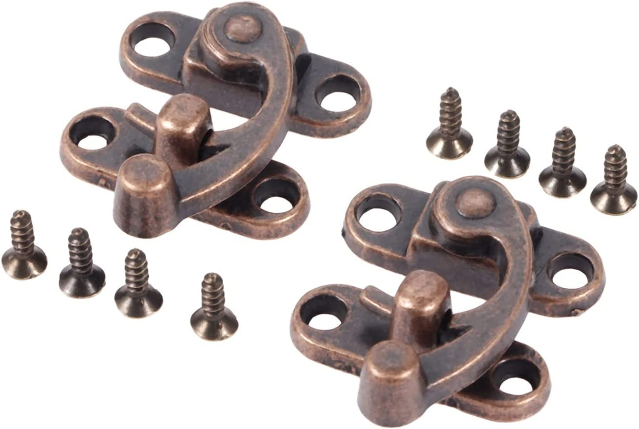 Household Furniture Hardware Hinges 2Pcs Box Colorado Springs Mall Hasp Latch Copper Product L