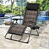 Oakmont Zero Gravity Chairs Patio Set with Pillow and Cup Holder Patio Furniture Outdoor Adjustable Dining Reclining Folding Chairs for Pool Side Outdoor Yard Beach
